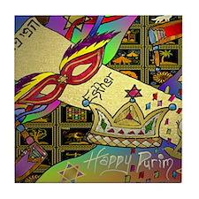 HappyPurim Tile Coaster