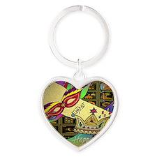 HappyPurim Heart Keychain