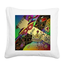 HappyPurimSquare Square Canvas Pillow