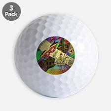 HappyPurimSquare Golf Ball