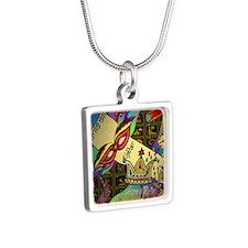 HappyPurimSquare Silver Square Necklace