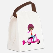 scootgirl Canvas Lunch Bag