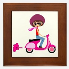 scootgirl Framed Tile