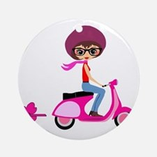 scootgirl Round Ornament
