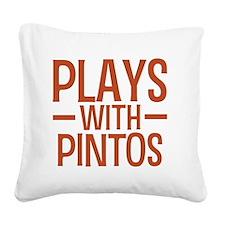 playspintos Square Canvas Pillow