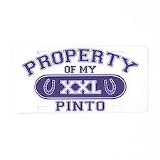 pintoproperty Aluminum License Plate