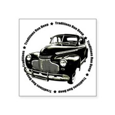 "traditions deep black Square Sticker 3"" x 3"""