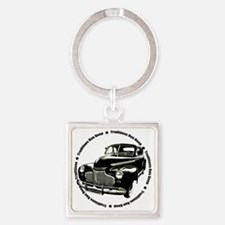 traditions deep black Square Keychain