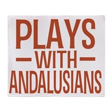 playsandalusians Throw Blanket