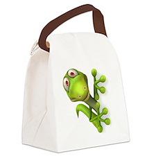 Cartoon Gecko Canvas Lunch Bag