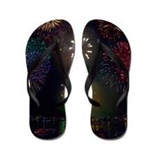 July 4th Fireworks Flip Flops