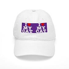 heartmycat8.31x3purple Baseball Cap