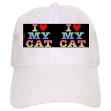 heartmycat8.31x3rainbow Baseball Cap