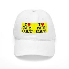 heartmycat8.31x3yellow Baseball Cap