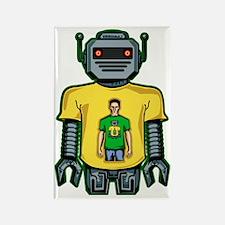 Infinity Robot Green Rectangle Magnet