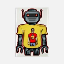 Infinity Robot Red Rectangle Magnet