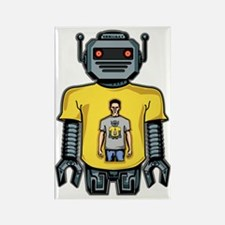Infinity Robot Grey Rectangle Magnet