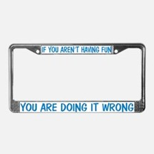 Have Fun in Agility License Plate Frame