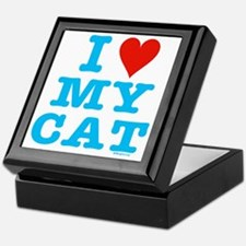 HeartMyCat10x10blueTrans Keepsake Box