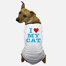 HeartMyCat10x10blueTrans Dog T-Shirt