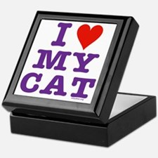 HeartMyCat10x10purpleTrans Keepsake Box