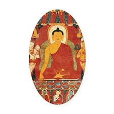Buddha2 Oval Car Magnet