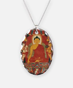 Buddha2 Necklace Oval Charm