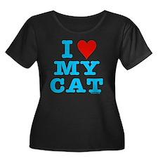 HeartMyC Women's Plus Size Dark Scoop Neck T-Shirt
