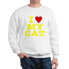 HeartMyCat10x10yellowTrans Sweatshirt