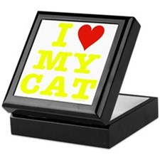 HeartMyCat10x10yellowTrans Keepsake Box