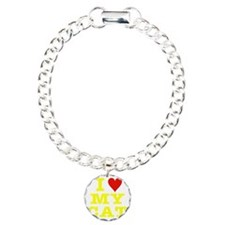 HeartMyCat10x10yellowTra Bracelet