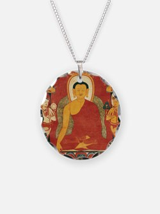 Buddha2Sq Necklace Circle Charm