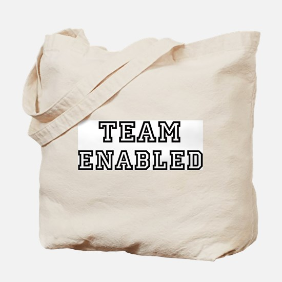 ENABLED is my lucky charm Tote Bag