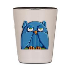 Sticker Aqua Owl Shot Glass