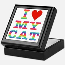 HeartMyCat10x10RainbowVivid Keepsake Box