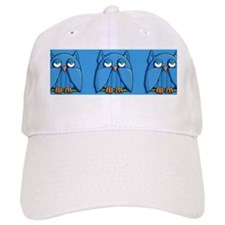 Mug Aqua Owl aqua Baseball Cap