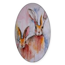 2 Hares Decal