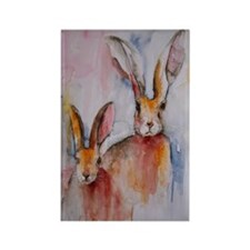 2 Hares Rectangle Magnet