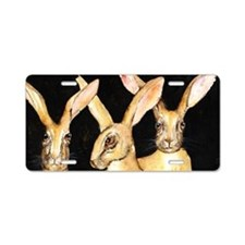3 Hares Aluminum License Plate