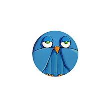 Mini Wallet Aqua Owl red Mini Button