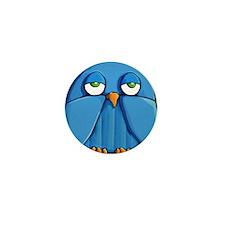 Mini Wallet Aqua Owl green Mini Button