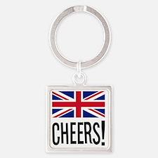 British Cheers Pint Glass Square Keychain