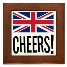 British Cheers Pint Glass Framed Tile