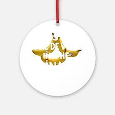ilostmyjoiedevivreBW Round Ornament