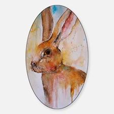 Solo Hare Sticker (Oval)