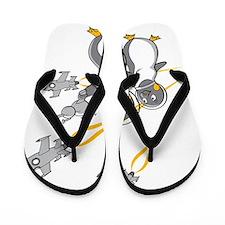 Flash Penguin Flip Flops