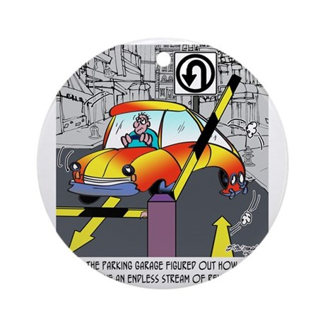 8567_parking_cartoon Round Ornament