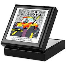 8567_parking_cartoon Keepsake Box