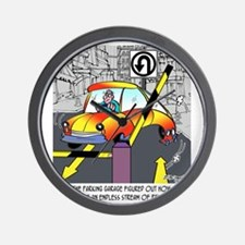 8567_parking_cartoon Wall Clock