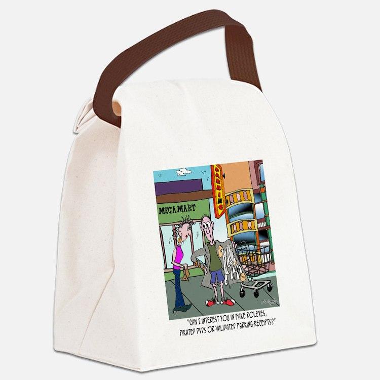 8560_parking_cartoon Canvas Lunch Bag
